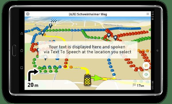 Navigation für Müllentsorgung mit zusätzlichen Hinweisen.