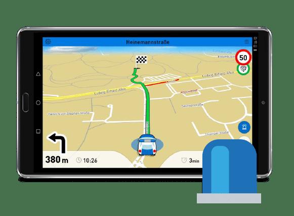 Navigation für Feuerwehr, Polizei und Rettungsdienst mit Blaulichtrouting