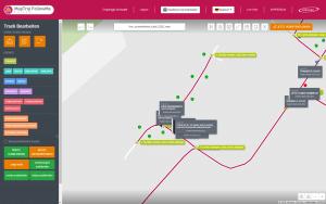 Navigation für Abfallwirtschaft - Editor zum Bearbeiten von Touren