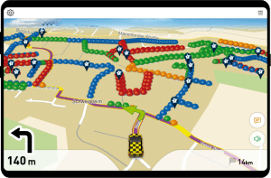 Screenshot FollowMe Route abfahren