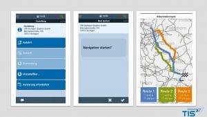 LKW Navigation und TIS